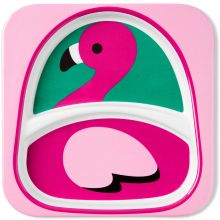 Assiette à compartiments Zoo Flamant Rose  par Skip Hop