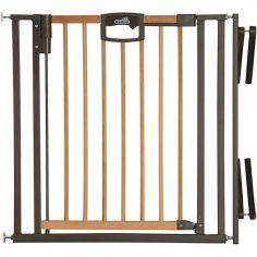 Barrière Easy Lock Wood Plus avec adaptateur escalier (84 à 92 cm)