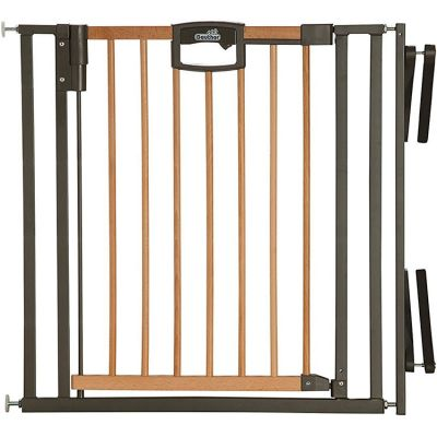 Barrière Easy Lock Wood Plus avec adaptateur escalier (84 à 92 cm)  par Geuther