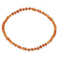 Collier en ambre bébé perles baroques (32 cm)