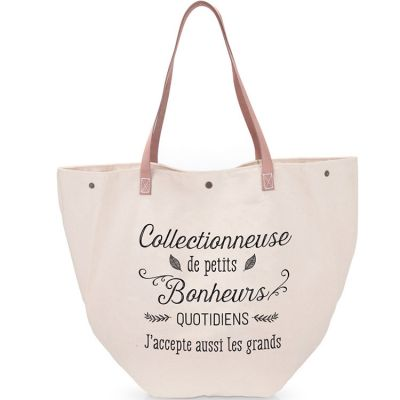 Grand sac Collectionneuse de petits bonheurs quotidiens  par Créa Bisontine