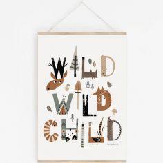 Affiche A3 Wild Wild Child avec support