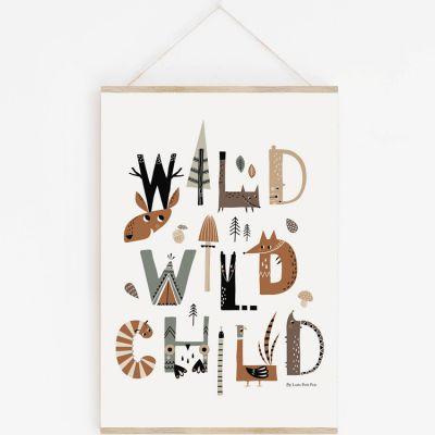 Affiche A3 Wild Wild Child avec support  par Lutin Petit Pois
