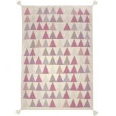 Tapis fille Kilim rose triangles (110 x 160 cm) - Art for Kids