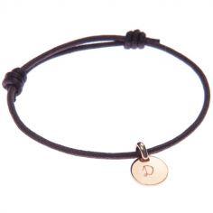 Bracelet Initiales avec médaille personnalisable (plaqué or)