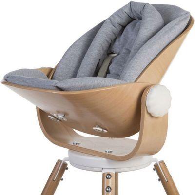 Coussin réducteur naissance pour chaise haute Evolu Newborn gris  par Childhome