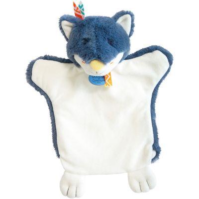 Doudou marionnette Loup bleu indien  par Doudou et Compagnie