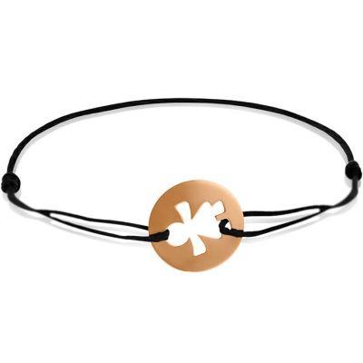 Bracelet cordon enfant Petite Fille (or rose 750°)