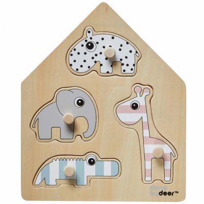 Puzzle à encastrement en bois (4 pièces)  par Done by Deer