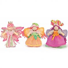 Lot de 3 figurines fées du jardin (9 cm)