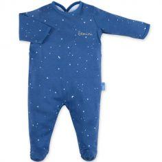 Pyjama léger constellations Stary bleu jean (3-6 mois)