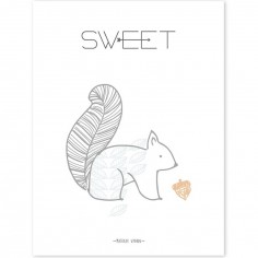Affiche Nordic écureuil Sweet (30 x 40 cm)