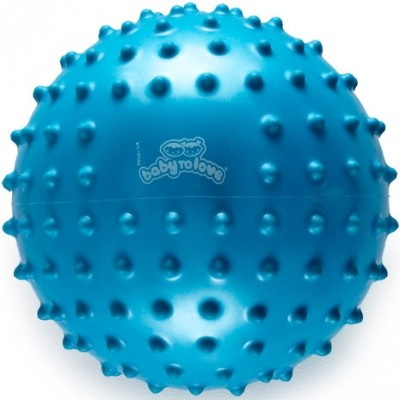 Balle tactile fluo bleu  par BabyToLove