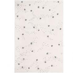 Tapis Constellation d'étoiles grises (120 x 170 cm)