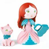 Figurine Rosa & son chat Cat - Djeco