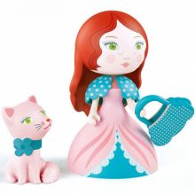 Figurine Rosa & son chat Cat  par Djeco