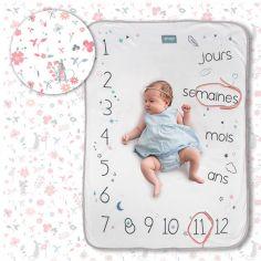 Couverture étapes de bébé Rosy white