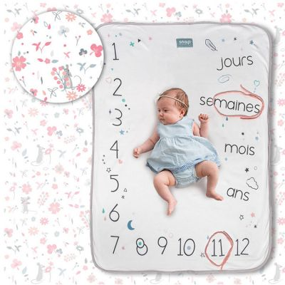 Couverture étapes de bébé Rosy white  par Snap The Moment