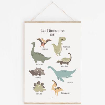 Affiche A3 Les dinosaures avec support  par Lutin Petit Pois