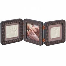 Cadre photo empreinte My Baby Touch gris Copper Edition (3 volets)  par Baby Art