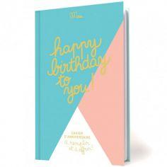 Livre d'anniversaire Happy birthday to you