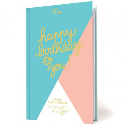 Livre d'anniversaire Happy birthday to you Minus