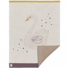 Couverture en coton bio cygne Little Water