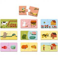 Lot de 10 puzzles Duonimo (2 pièces)