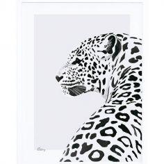 Affiche encadrée le léopard (30 x 40 cm)