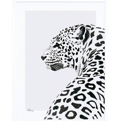 Affiche encadrée le léopard (30 x 40 cm)  par Lilipinso