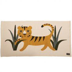 Tapis rectangulaire tigre (70 x 140 cm)