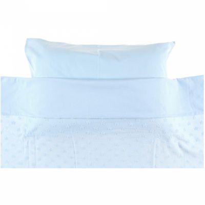 Housse de couette + taie d'oreiller bleu Mix et Match (100 x 140 cm)  par Noukie's