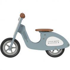 Draisienne Scooter en bois bleue