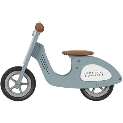 Draisienne Scooter en bois bleue  par Little Dutch