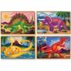Set petits puzzles en bois Dinosaures (4 puzzles) - Melissa & Doug