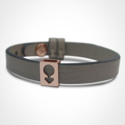 Bracelet Lovely simple personnalisable (or rose 750°)  par Mikado