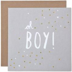 Carte Oh Boy et son enveloppe