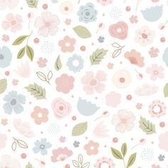 Papier peint motif fleurs (10 m)