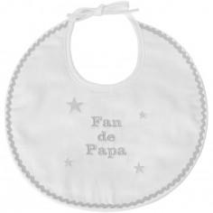 Bavoir de naissance fan de papa gris