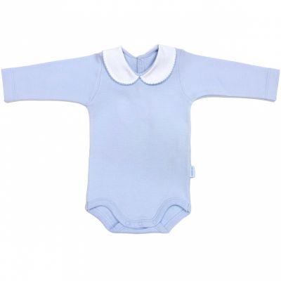 Body col manches longues interlock bleu (1 mois : 56 cm)  par Cambrass
