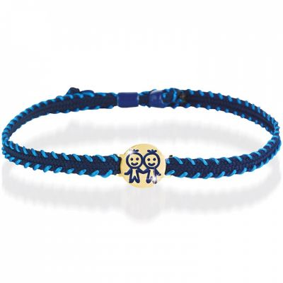 Bracelet cordon Primegioie Zodiaque Gémeaux (or jaune 375°)  par leBebé