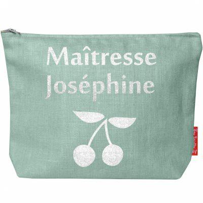 Pochette Maîtresse vert d'eau (personnalisable)  par Les Griottes