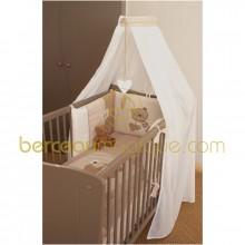 Ciel de lit ou rideau tradition x2 76cm x 160cm candide - Rideau ciel de lit ...