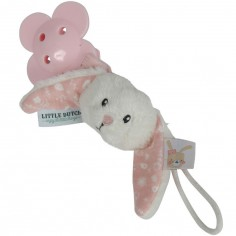 Attache sucette lapin Adventure pink