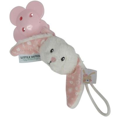 Attache sucette lapin Adventure pink  par Little Dutch