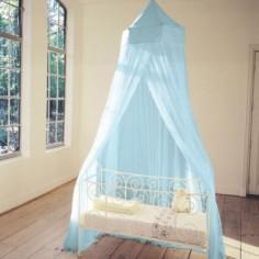 Moustiquaire pour lit bleu rêve