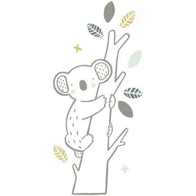 Grand sticker koala sur branche (30 x 65 cm)