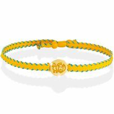 Bracelet cordon Primegioie Zodiaque Lion (or jaune 375°)