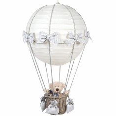 Lampe montgolfière vichy gris