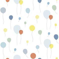 Papier peint intissé Up! ballons multicolores (10 m)